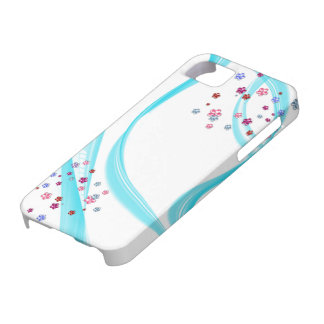 flowerettes met blauw talent barely there iPhone 5 hoesje