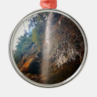 Fluisterende Herfsten, Hocking Heuvels Ohio Zilverkleurig Rond Ornament