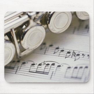 Fluit op de Muziek van het Blad Muismat