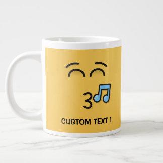 Fluitend Gezicht met het Glimlachen van Ogen Grote Koffiekop