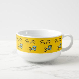 Fluitend Gezicht met het Glimlachen van Ogen Soepkom