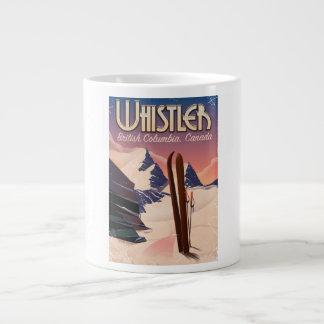 Fluiter, poster van de Ski van Vancouver, het Grote Koffiekop