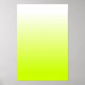 Fluorescente Gele Gradiënt Poster