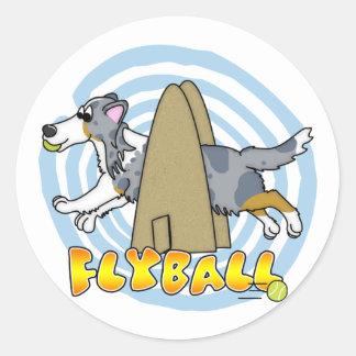 Flyball Sheltie Ronde Sticker