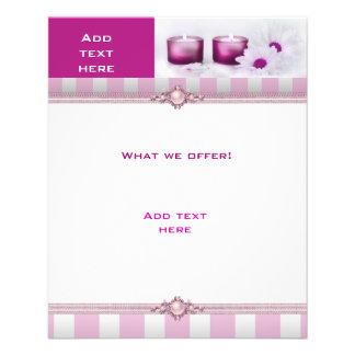 Flyer Beauty Salon Spa Roze Witte StripeTemplate Flyer 11,4 X 14,2 Cm