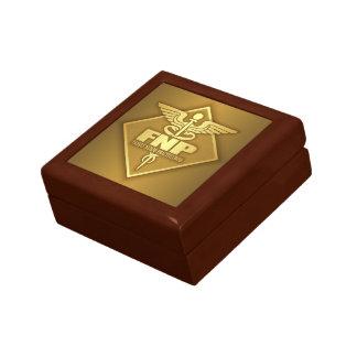 FNP (goud) (diamant) Decoratiedoosje