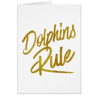 Folie Faux van de Regel van dolfijnen schittert de Wenskaart