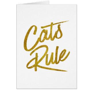 Folie Faux van de Regel van katten schittert de Wenskaart