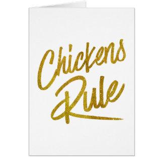 Folie Faux van de Regel van kippen schittert de Wenskaart