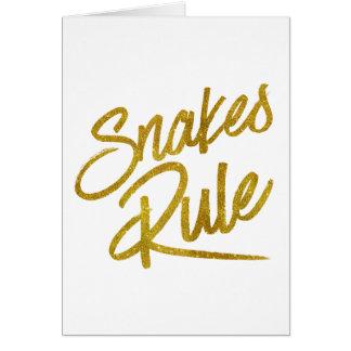 Folie Faux van de Regel van slangen schittert de Kaart
