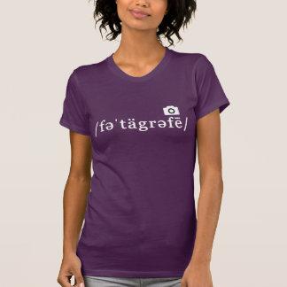 Fonetische Fotografie (Paarse Klantgerichte T Shirt