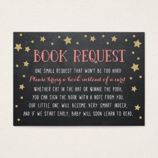 Fonkel het Verzoek van het Boek van de Ster, Roze, Visitekaartjes