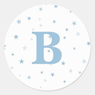 Fonkel Weinig Jongen van het Baby van de Ster Ronde Stickers