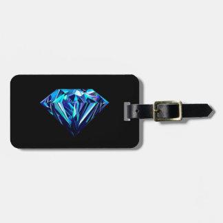 Fonkelende diamant bagagelabel