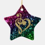 Fonkelende Gekleurde Sterren met de Symbolen van d Ornament