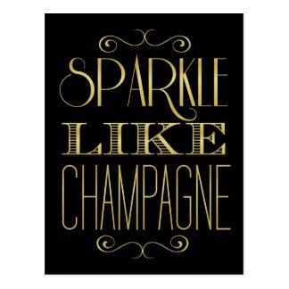 Fonkeling zoals Champagne Briefkaart