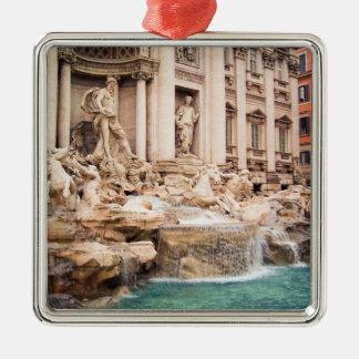 Fontana Di Trevi, Rome Zilverkleurig Vierkant Ornament