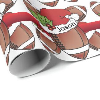 Football   van Kerstmis van het Pet van de Inpakpapier