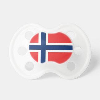 Fopspeen met vlag van Noorwegen