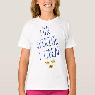 För Sverige i het Overhemd van het T-shirt Tiden,