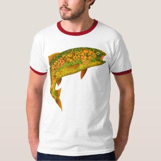 Forel van de Regenboog van het Blad van de esp 2 T Shirt