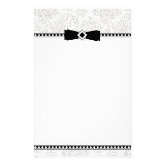 Formele Zilveren & Zwarte kantoorbehoeften Gpersonaliseerd Briefpapier