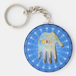 Forprotection van het Oog van de God van de Hand H Sleutelhanger