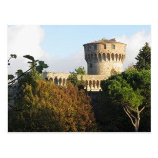 Fortezza Medicea van Volterra, Toscanië, Italië Briefkaart