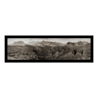 Foto 1909 van de Canion van het Kamp van de roest  Poster
