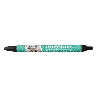 Foto met de het Moderne Patroon van de Chevron en Zwarte Inkt Pen