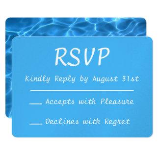Foto RSVP van het Zwembad van Aqua de Blauwe 12,7x17,8 Uitnodiging Kaart
