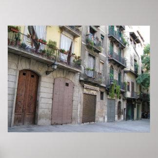 Foto van Barcelona, Barri Gòtic (Gotisch Kwart) Poster