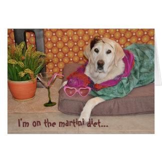 Foto van betoverende hond met martini. Om het even Briefkaarten 0