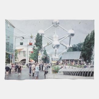 Foto van Brussel 1958 van de wereld de Eerlijke Theedoek