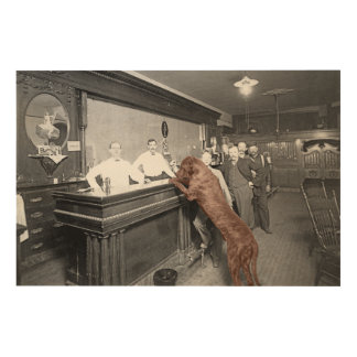 Foto van de Bar 1900 van de Herberg van de Zaal Hout Afdruk