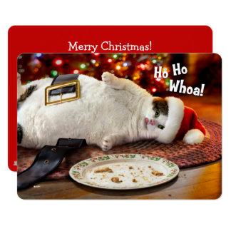Foto | van de douane de Kat van de Kerstman & het 12,7x17,8 Uitnodiging Kaart