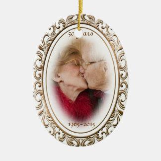 foto van de Douane van het Lijst van het 50ste Jub Keramisch Ovaal Ornament