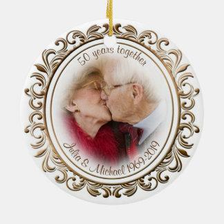 foto van de Douane van het Lijst van het 50ste Rond Keramisch Ornament