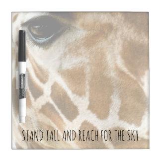 Foto   van de Natuur van de giraf Inspirerend Whiteboard