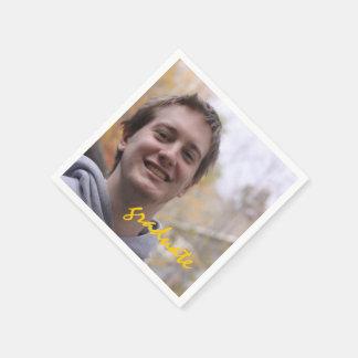 Foto van de Partij van de Afstuderen van de Wegwerp Servetten