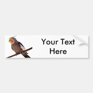 Foto van de Vogel van het Huisdier van Cockatiel Bumpersticker