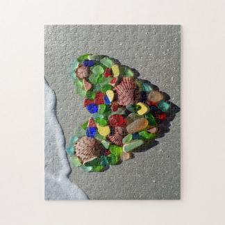 Foto van het glas de zeldzame heldere kleuren van puzzel