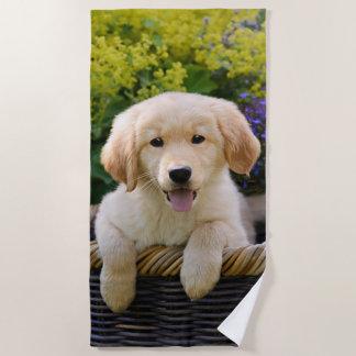 Foto van het Huisdier van het Puppy van de Hond Strandlaken