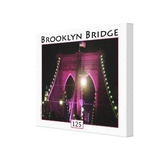 Foto van het Jubileum van de Brug van Brooklyn de Stretched Canvas Prints