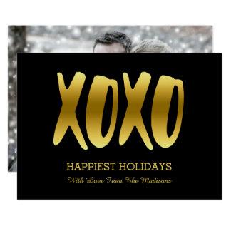 Foto van Kerstmis van het VAKANTIE XOXO van Faux 12,7x17,8 Uitnodiging Kaart