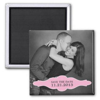 Foto van La Bon Vie van het baby bewaart de Roze Vierkante Magneet