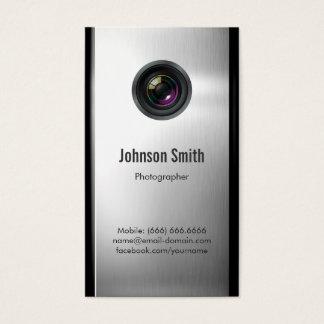 Fotograaf - de Lens van de Camera in Zilveren Visitekaartjes