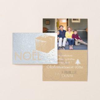 Fotokerstkaart aan de persoonlijke behoeften folie kaarten
