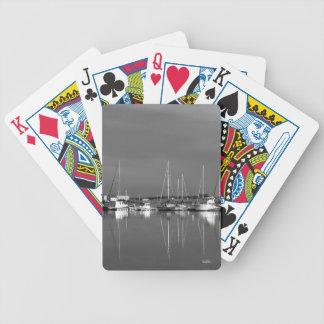 fotospeelkaart zwart en wit, boten poker kaarten