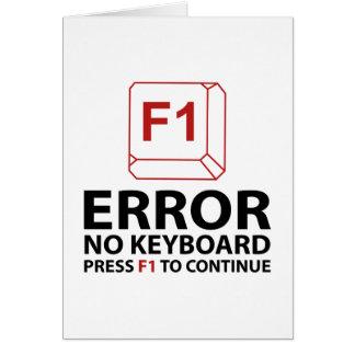 Fout Geen Pers van het Toetsenbord F1 om verder te Kaart